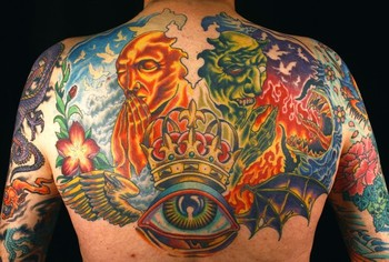 Tattoos - good and evil backpiece - 48342