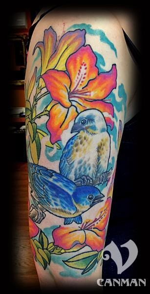 Tattoos - Blue birds - 122465