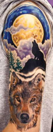 Tattoos - wolf half sleeve - 48339