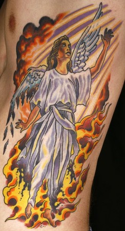Tattoos - Fallen Angel Color tattoo - 46579