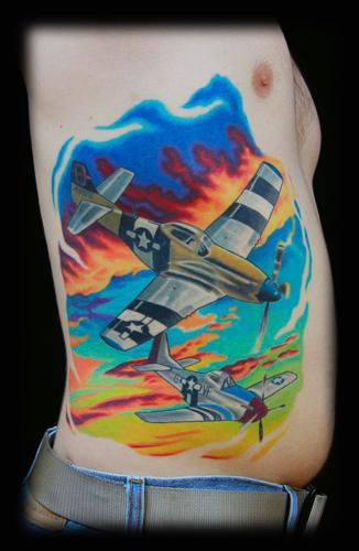 Tattoos - fighter planes - 74342