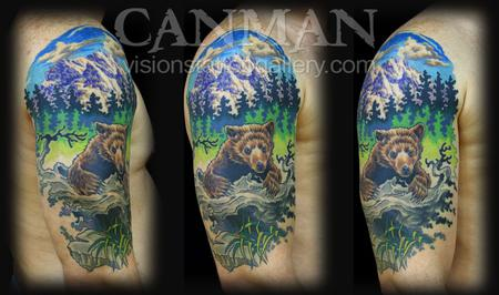 Canman - Bear and mountain scene