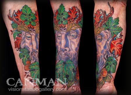 Tattoos - Greenman Tattoo - 62249