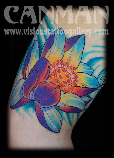 Tattoos - japanese lotus flower - 75801