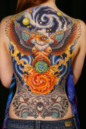 Tattoos - cosmic spiritual backpiece - 48340