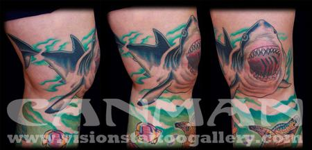 Tattoos - shark tattoo - 73296