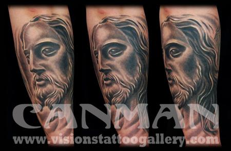 Tattoos - jesus portrait - 73572
