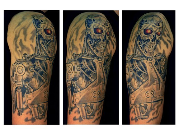 Tattoos -  Black & Gray Terminator - 50037