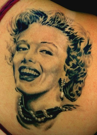 Tattoos - Marilyn Monroe portrait - 48656