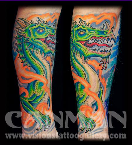 Tattoos - Medieval Dragon by Canman - 79977