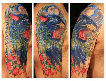 Tattoos - panther half sleeve - 48657