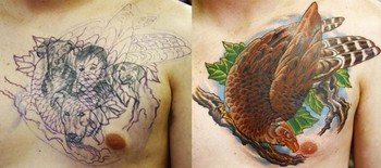 Tattoos - Eagle Portrait Coverup - 42585