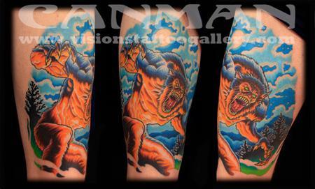 Tattoos - werewolf tattoo - 75714
