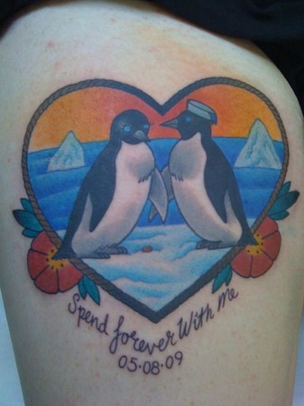 Tattoos - Heart Penguins - 49309