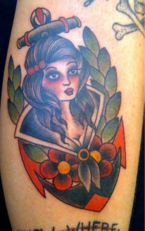 Tattoos - Traditional girl tattoo - 49310