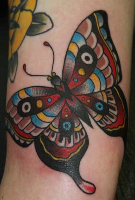 Ben Rorke - Traditional Butterfly Tattoo