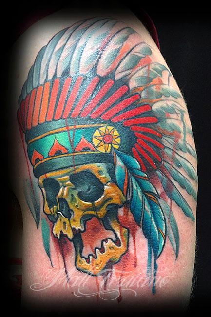 Tattoos - indian skull - 93888