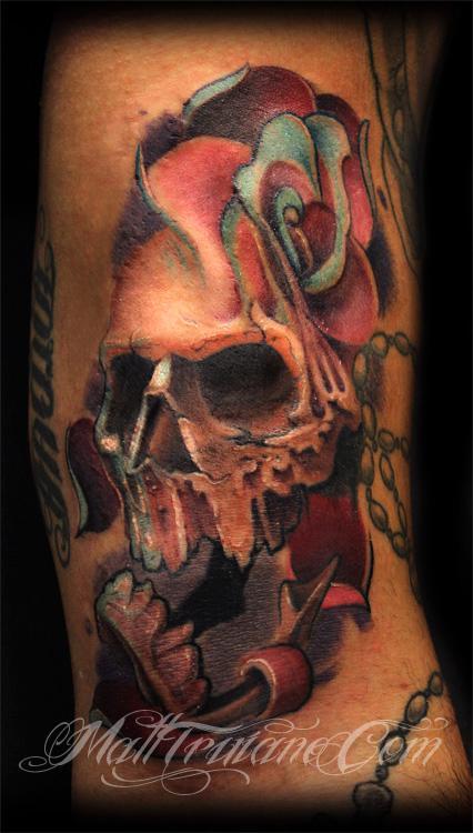 Tattoos - Watson Skull Rose - 60973