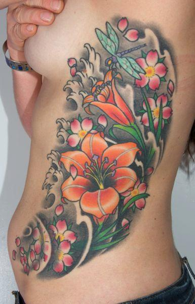 Xandi Fromm - Color Cherry Blossoms Tattoo