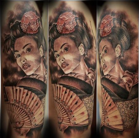 Tattoos - Half Sleeve geisha sleeve - 94489