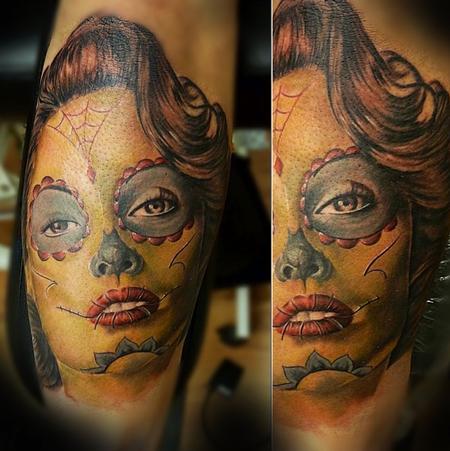 Tattoos - Custom Day of the Dead portrait - 94490