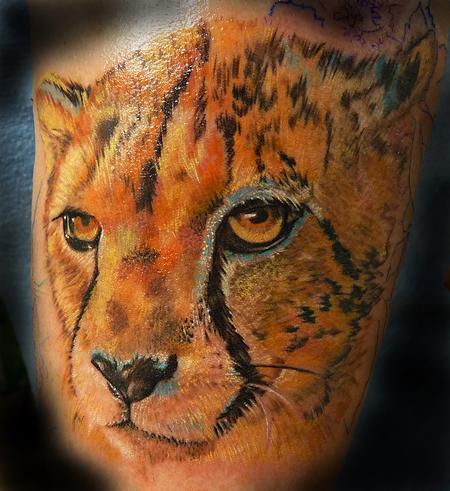 Tattoos - Cheetah Portrait - 94498