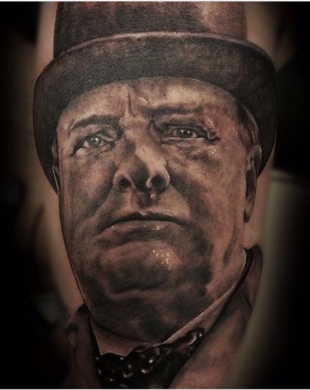 Tattoos - Winston Churchill Portrait - 94500