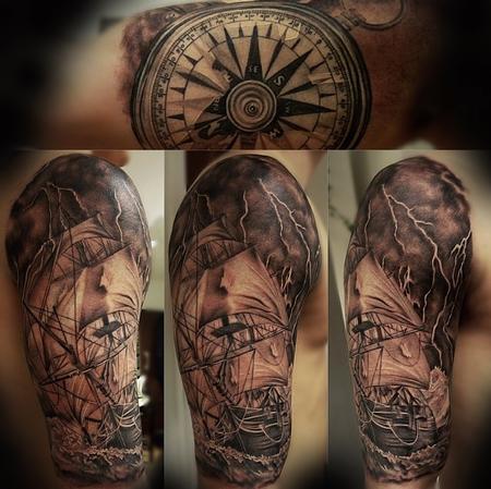 Tattoos - Stormy ship - 94508