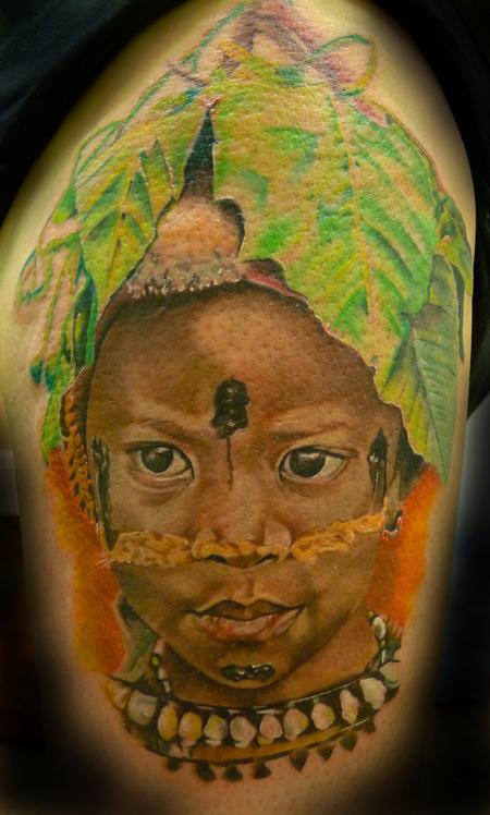 Tattoos - Realisitc Native Portrait  - 94487