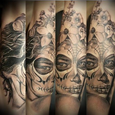 Tattoos - Custom Day of the Dead portrait - 94775