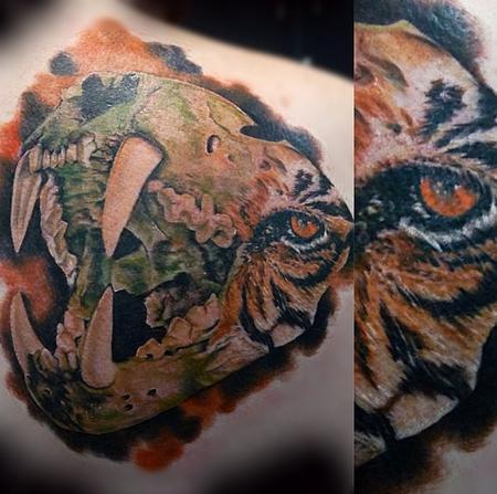 Tattoos - Custom Tiger Skull - 94776
