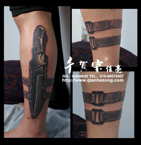 Tattoos - Tactical knife - 70707