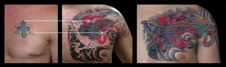 Tattoos - Phoenix Cover up - 79362
