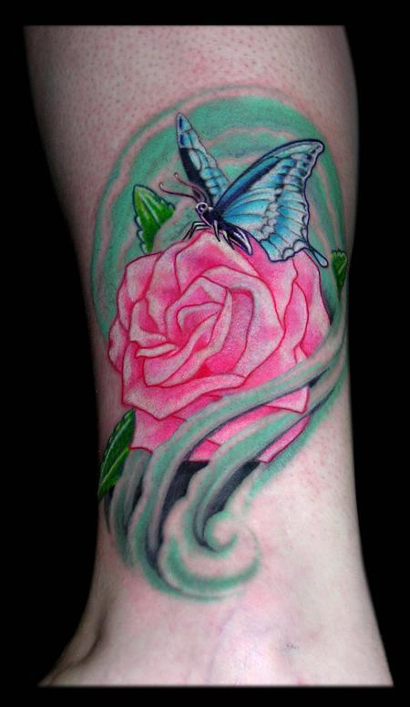 Aaron Goolsby - Butterfly and Rose