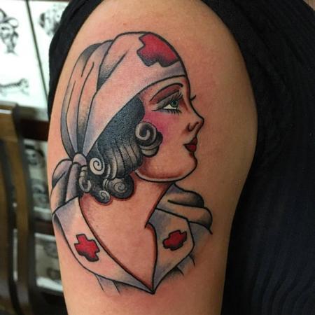 Tattoos - Traditional Nurse Tattoo - 129023