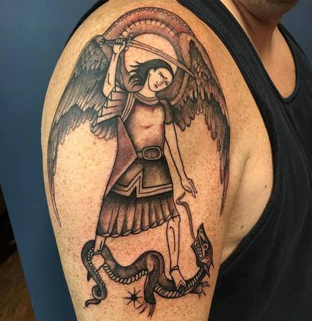 Tattoos - Saint Michael Tattoo - 129036