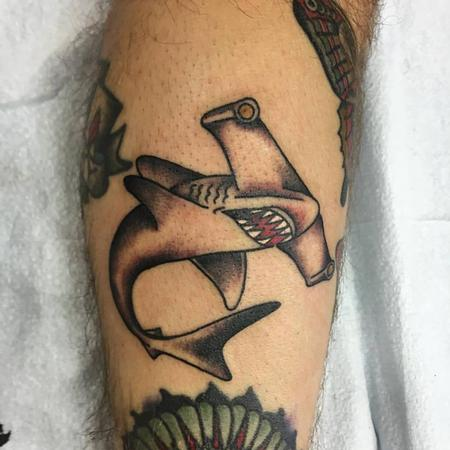 Tattoos - Hammer HEad Shark Tattoo - 129038