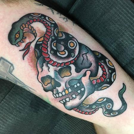 Tattoos - Skull and Snake Tattoo - 129047