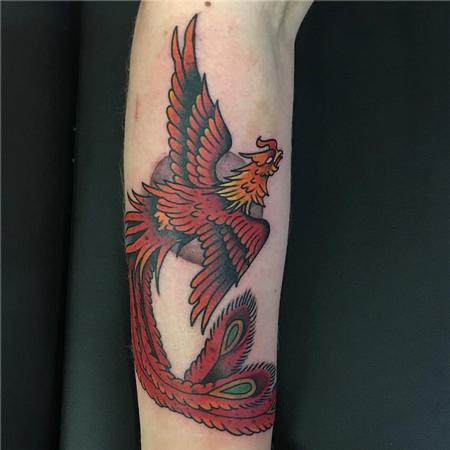 Tattoos - Traditional Phoenix Tattoo - 129055