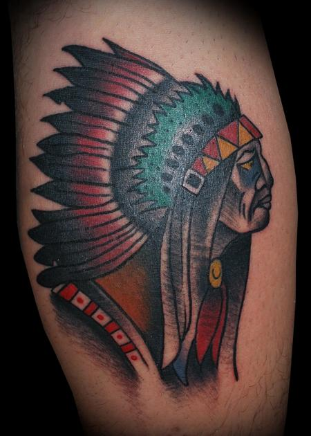 Adam Lauricella - Ben Corday Inspired Indian Chief Tattoo