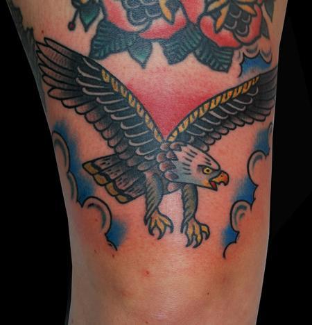 Tattoos - Traditional Folk Eagle Tattoo - 91734