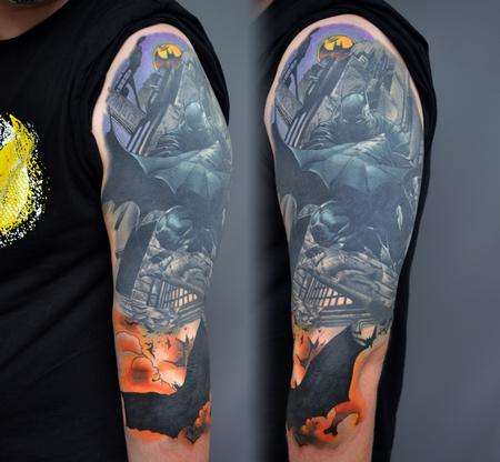 Tattoos - BatMan Cover up Arm Tattoo - 142115