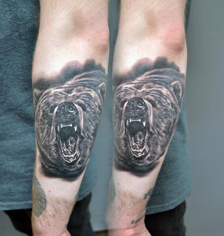 Alan Aldred - Small Bear Tattoo