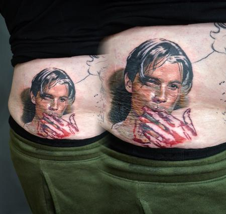 Tattoos - Billy Loomis Scream Portrait - 139634