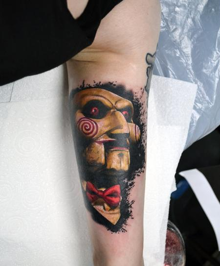 Tattoos - Billy from SAW portrait - 129547