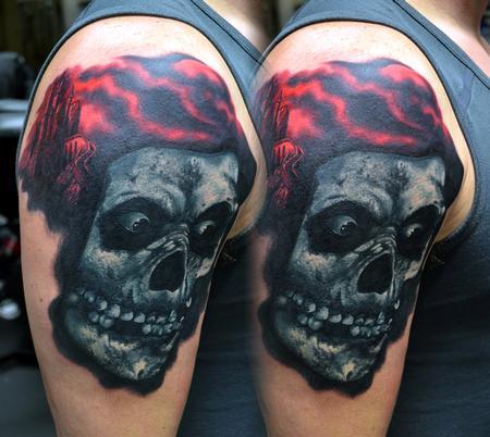 Tattoos - Misfits Crimson Ghost Tattoo - 114156