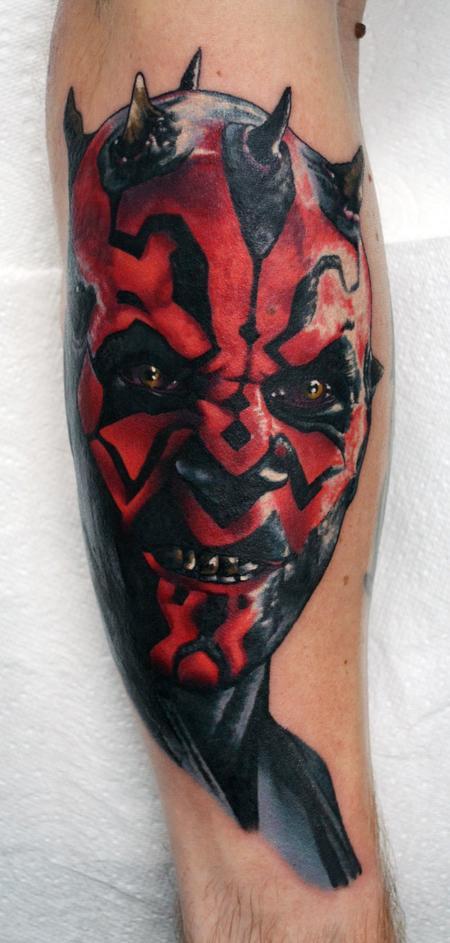 Tattoos - Darth Maul Portrait Tattoo - 122464