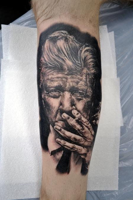 Tattoos - David Lynch Portrait Tattoo - 133234