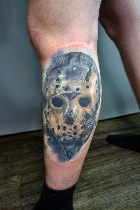 Tattoos - Jason Voorhees Friday 13th Portrait - 142690