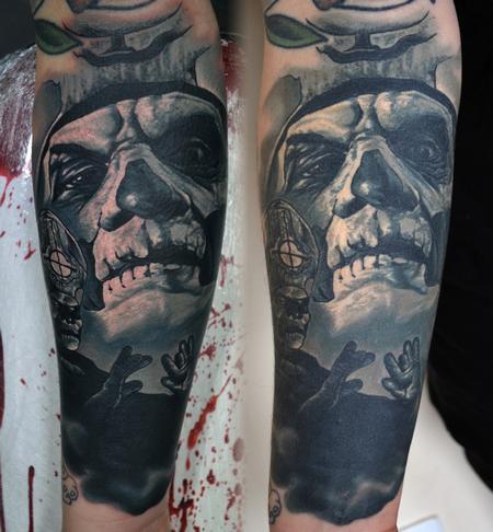 Tattoos - Healed Papa Emeritus Comparison - 116057